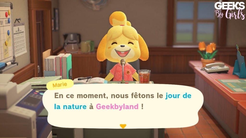 Animal Crossing : Le jour de la Nature ou jour de la terre