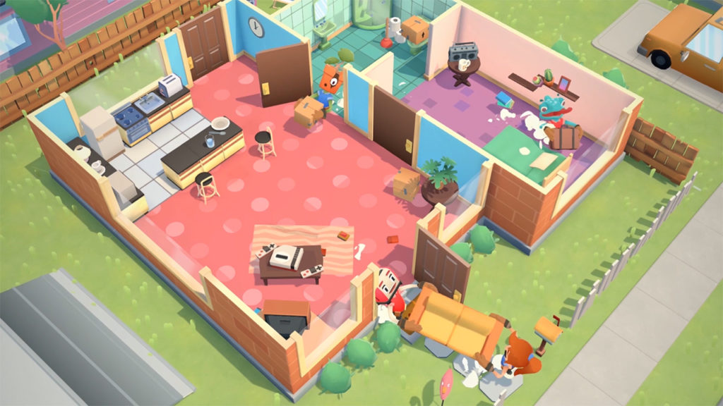 Moving Out est un jeu coopératif dans lequel vous mettez vos talents de déménageur à profit