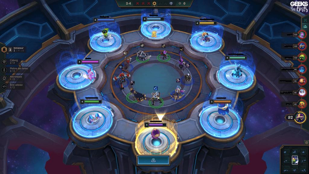 Exemple d'un Carrousel dans Teamfight Tactics - guide de débutant