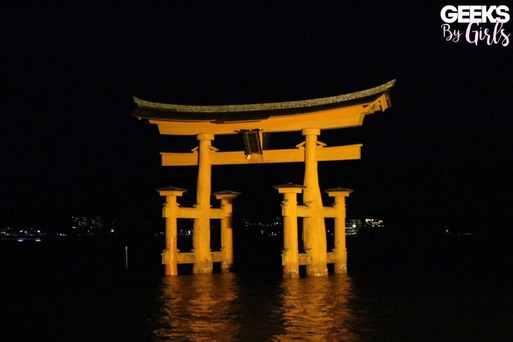 Tori de Miyajima. durant un voyage au Japon.