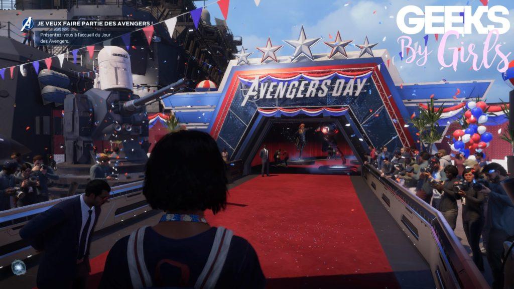 Kamala Khan arrive au Avengers Day dans Marvel's Avengers