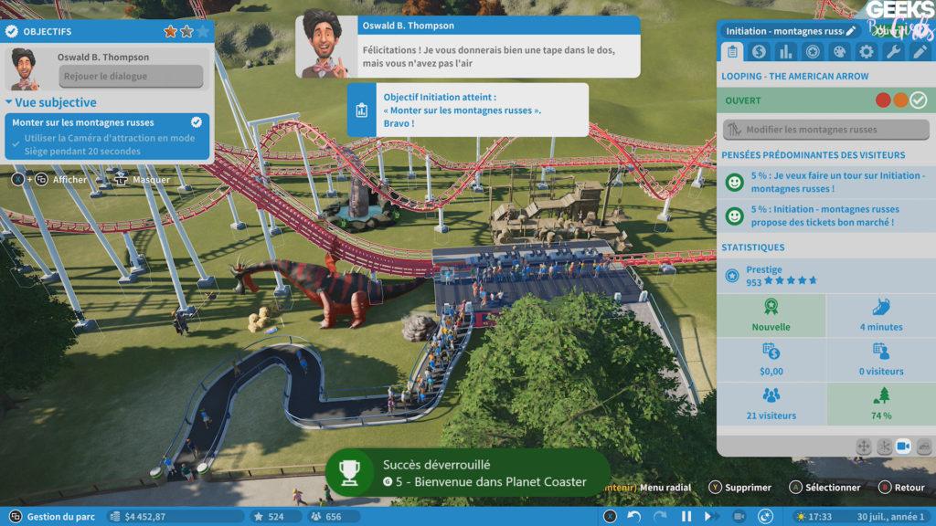 Vous aimez les parcs d'attractions ? Voici un guide permettant de débloquer tous les succès de Planet Coaster.