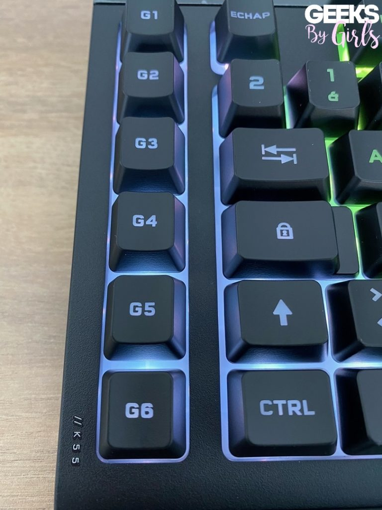 Le clavier K55 RGB Pro XT en détail