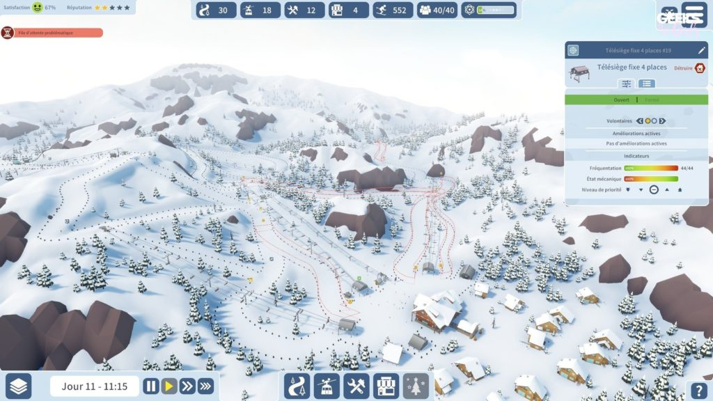 Snowtopia : Ski Resort Tycoon - satisfaction