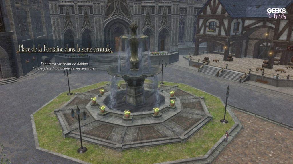 Ys IX : Monstrum Nox - Place de la fontaine