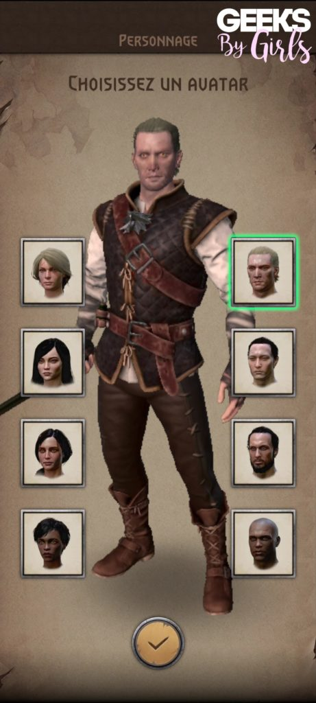 The Witcher: Monster Slayer, création de personnage