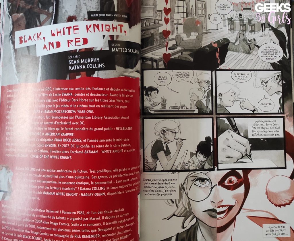 Harley Quinn Black + White + Red, histoire black, white knight and red